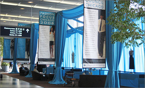 Fliers can learn about local designers and get shopping tips at O'Hare's fashion exhibit.