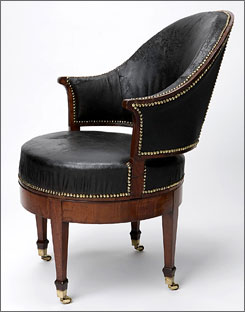 His sanctuary: This chair is among the items in George Washington?s study, which opens to the public this Saturday.