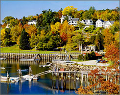 "Photographer Bob Krist puts little Rockport, on Maine's mid-coast,  on his prettiest-towns list. ""It's got probably the most picturesque harbor you've ever seen,"" Krist says."