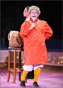 Barry Lubin appears as Grandma the clown in the Big Apple Circus, running from Oct. 23 through Jan. 18 in New York.