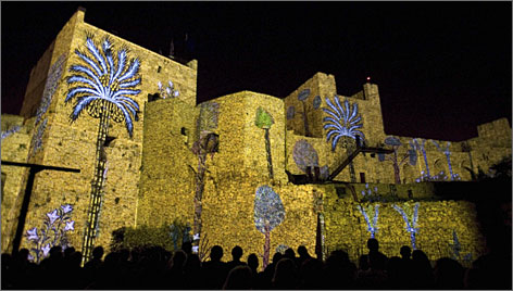The ancient walls of the Tower of David come alive  in a sound and light show that takes its audience on a tour of Jerusalem's history.