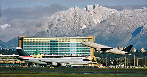Vancouver, B.C.: The Fairmont Vancouver Airport boasts more than location and convenience  it has mountain views, too.