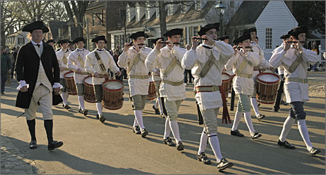 You say you want a Revolution: The fife-and-drum parade is the highlight of the daily outdoor performance in the Historic Area. Tickets required.