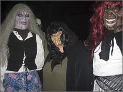 Busloads of people come to Germany's Burg Frankenstein each Halloween to celebrate in costume.