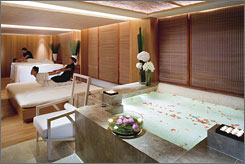 The Landmark Mandarin Oriental Hotel in Hong Kong is one of five hotels awarded a five-star rating from Mobil.