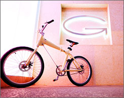 Spokes model: Glow-in-the-dark Puma bikes are offered free at Gansevoort South in Miami Beach.