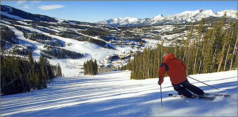 Luxury is the order of business at Montana's Big Sky Resort, located in Paradise Valley near Yellowstone National Park.