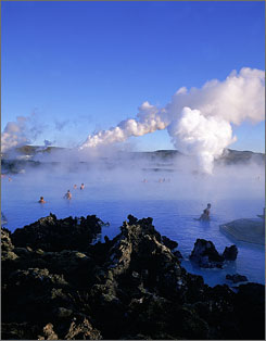 The Blue Lagoon: Visitors romp in the milky saltwater of this geothermal spa, which gets its color from white silica mud and blue-green algae.