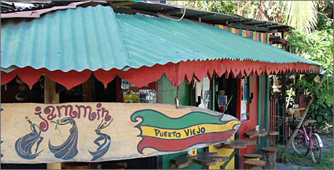 Flying those reggae colors: This Puerto Viejo eatery, named for the Bob Marley song Jammin', serves typical Costa Rican foods, such as rice and beans, with a Jamaican twist.
