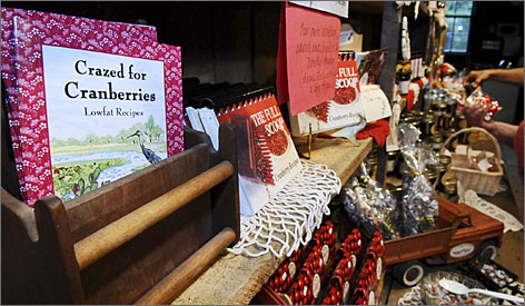 When you're looking for something to bring home to family and friends, seek out locally made items. Flax Pond Farms in Carver, Mass., sells cranberry soap, cranberry tea, cranberry candy and can ship boxes of cranberries.