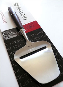 From Norway comes the iconic Bjorklund cheese slicer, designed by a Norwegian engineer in 1925.