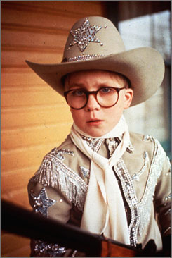 'I won't shoot my eye out!' Peter Billingsley plays Ralphie.
