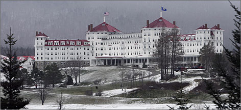 Professor Mark Okrant helped solve a budget problem at his university by writing murder mysteries that take place at at some of New England's best known tourism spots, including the Mount Washington Hotel in Bretton Woods, N.H.