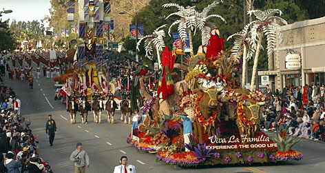 Rose Bowl, Pasadena, Calif.: The Tournament of Roses parade is just the beginning of the excitement. Then comes the game.