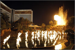 Robbie Knievel will jump the refurbished volcano at The Mirage hotel-casino on a motorcycle as part of a television special.