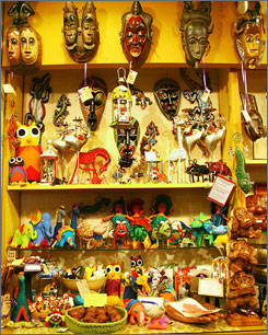 Masks and more: The Hands of the World in Seattle offers handcrafted items from around the world.
