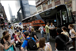 All aboard: Jayne Clark rode the BoltBus from Washington to New York for just $1.