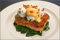 "In Hollywood: Kitchen 24 has healthy, ""more gourmet"" meals, co-owner Kimberly Roussel says, such    as the grilled salmon."