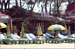 Scores of spooked foreigners have canceled vacations to Goa, where officials have banned beach parties and stepped up patrols.