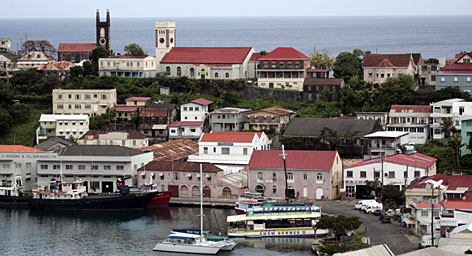 In the Caribbean: The historic harbor in St. George is one of the major appeals of the island of Grenada. The great beaches and rich inland don't hurt, either.