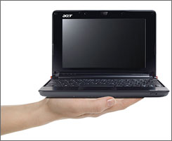 "The Acer Aspire One is one of a new breed of ""netbook"" computers which are likely to revolutionize the way business travelers work on the road."