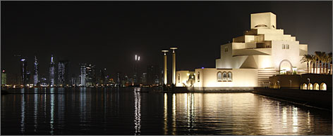 Qatar's Museum of Islamic Art, designed by American architect I.M. Pei, sits atop an artificial island half a mile off the capital city of Doha.