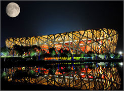 "China hoped that its impressive Olympic venues like the ""bird's nest"" stadium would spur an increase in visitors, but the number of tourists actually dropped by 2 million in 2008."