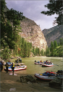A summer rafting trip on Idaho's Salmon River can give adventurers a glimpse of unspoiled countryside and plenty of wildlife.