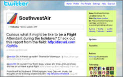 Answering inquiries and announcing new service isn't Southwest's only use of Twitter.