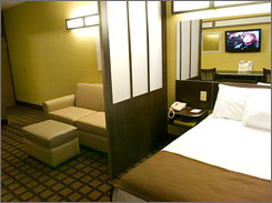 Clean and comfy: Microtel rooms are small, but many are being updated. Wi-Fi and phone calls are free.