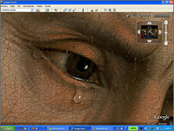 """Art enthusiasts can use Google Earth to zoom in on Rogier van der Weyden's """"Descent of Christ from the Cross"""" and 14 other works in the Prado Museum."""