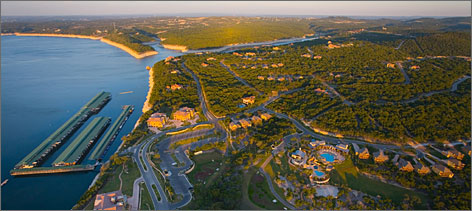 No mess in Texas: Planned communities with marinas and other recreational facilities have sprung up around Lake Travis near Austin, one of seven Highland Lakes in Hill Country.