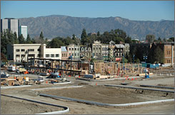 Construction is well underway at Universal Studios Hollywood after last summer's fire.
