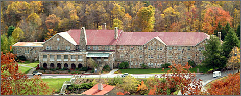 Baby's corner: The Mountain Lake Hotel in Pembroke, Va., the scene of Kellerman's Resort in the 1987 film Dirty Dancing, holds Dirty Dancing weekends.