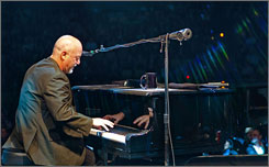 Opening night: Billy Joel plays The Show.