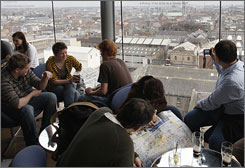 The rooftop bar at the Guinness brewery offers the best view of the city.