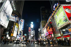 Where does Times Square rank on the list of the USA's most popular tourist spots?