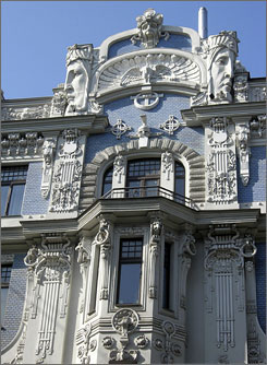 "Although its urban center dates to medieval times, Riga is sometimes referred to as the ""Paris of the Baltics"" because of its evocative Art Nouveau architecture."