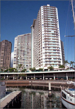 Open -- for now: The Ilikai in Waikiki, Hawaii, has been foreclosed on.