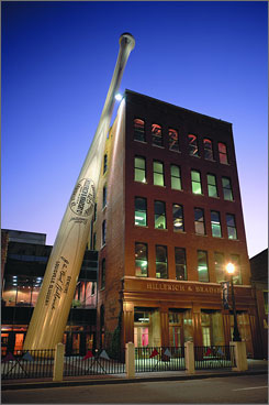 The Louisville Slugger Museum is home to  the world's largest bat.