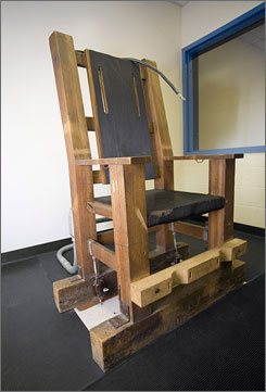 """Following a state Supreme Court ruling that its old electric chair constituted cruel and unusual punishment, a Nebraska town wants to take """"Old Sparky"""" and convert in into a tourist attraction."""