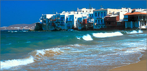 The Greek Island Hopper package offered by Virgin Vacations is a nice way to sample several of Greece's most popular destinations, including Mykonos.