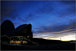 Lights out: The Sydney Opera House will go dark for an hour Saturday to raise green awareness.