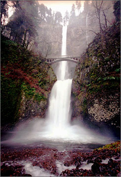 Multnomah Falls, about 45 minutes east of Portland, is among Oregon's more-visited attractions.