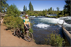 The Deschutes River Trail rolls from Sunriver to Bend, Ore., through pine forests, lava flows, and meadows. This is a great family ride that concludes in one of the West's great frontier towns, replete with brewpubs, ice cream shops and more.