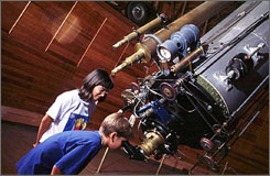 Lowell Observatory in Flagstaff, Ariz., welcomes visitors year-round for tours and telescope viewing.