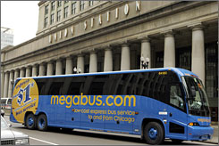 Megabus is one of the no-frills, low-cost lines helping more Americans to travel by motorcoach.