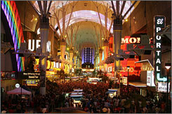 The ten casinos on the Fremont Street Experience in  Las Vegas are hoping the summer promotion will help revive the city's top industry.