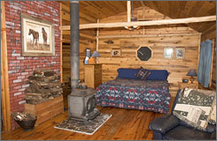 The White Rabbit Inn Bed & Breakfast in Lakeside is aimed strictly at couples, offering eight stylishly appointed double rooms and cabins.
