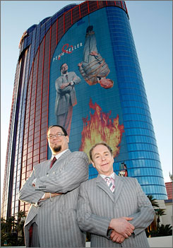 Penn & Teller are the resident headliners at the Rio All-Suite Hotel and Casino in Las Vegas.